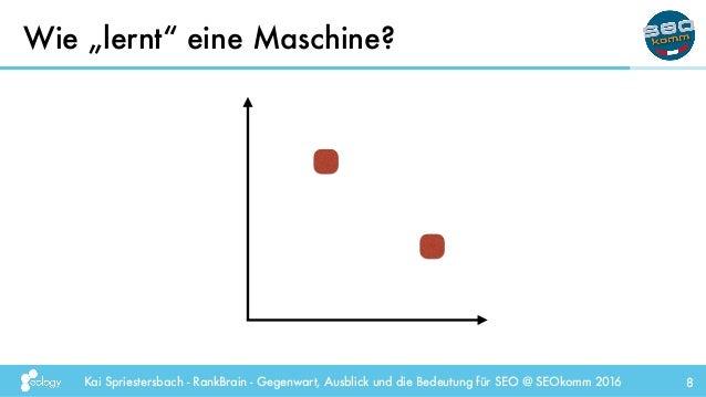 """Kai Spriestersbach - RankBrain - Gegenwart, Ausblick und die Bedeutung für SEO @ SEOkomm 2016 Wie """"lernt"""" eine Maschine? 8"""