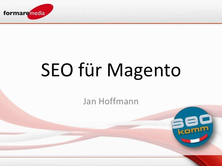 SEO für Magento    Jan Hoffmann