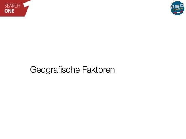 Geografische Faktoren