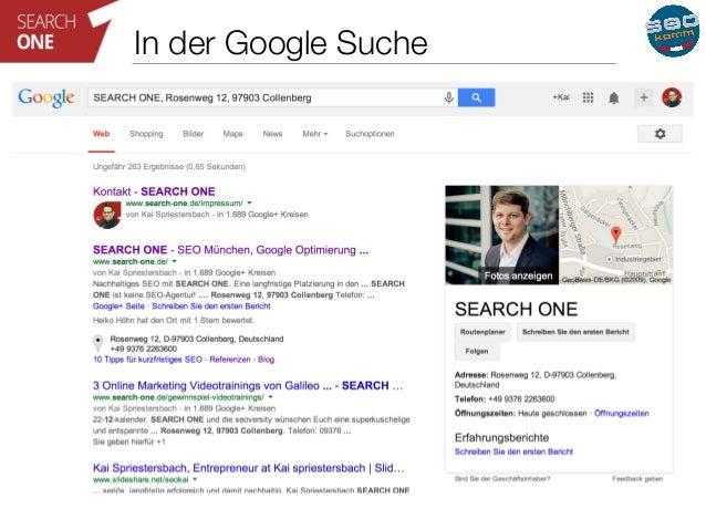 In der Google Suche