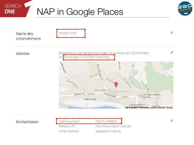 NAP in Google Places