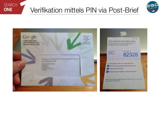 Verifikation mittels PIN via Post-Brief