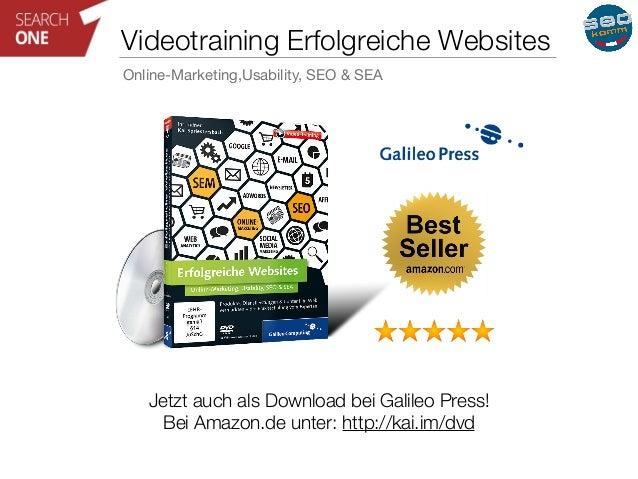 Videotraining Erfolgreiche Websites  Online-Marketing,Usability, SEO & SEA  Jetzt auch als Download bei Galileo Press!  Be...