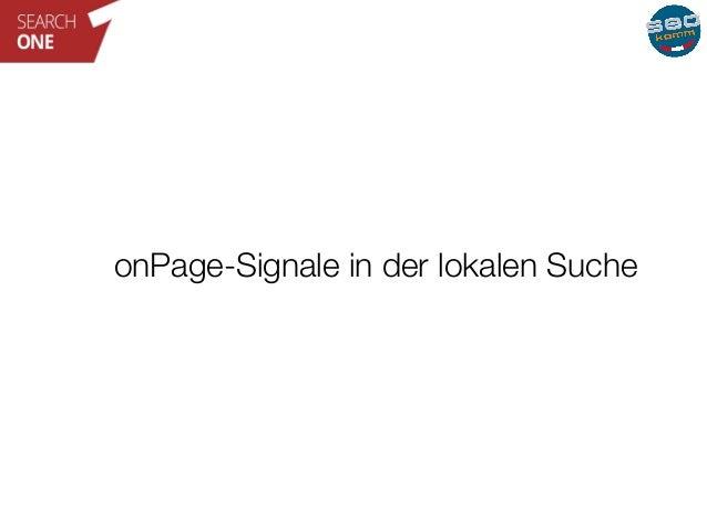 onPage-Signale in der lokalen Suche