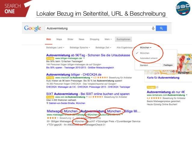 Lokaler Bezug im Seitentitel, URL & Beschreibung