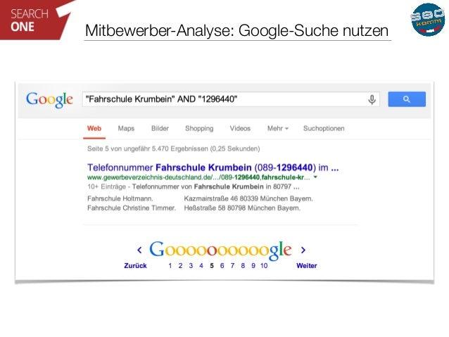 Mitbewerber-Analyse: Google-Suche nutzen