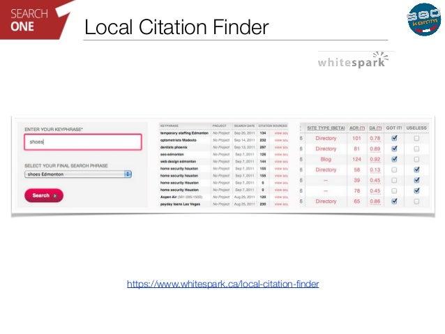 Local Citation Finder  https://www.whitespark.ca/local-citation-finder