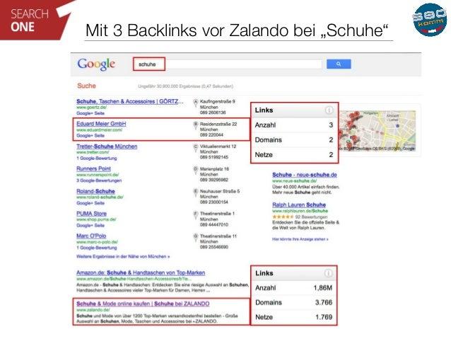 """Mit 3 Backlinks vor Zalando bei """"Schuhe"""""""
