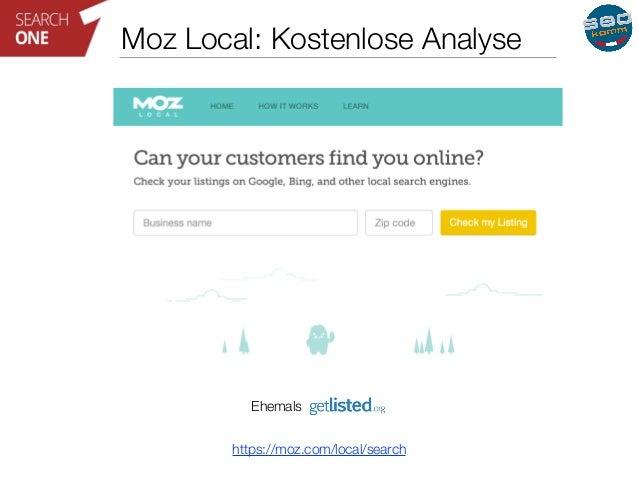 Moz Local: Kostenlose Analyse  Ehemals  https://moz.com/local/search
