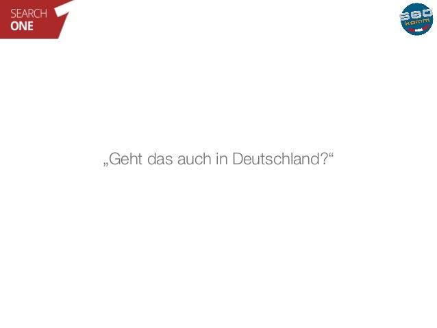 """""""Geht das auch in Deutschland?"""""""