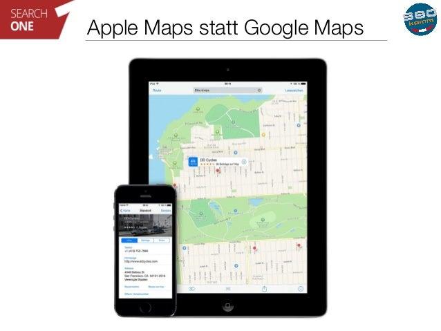 Apple Maps statt Google Maps