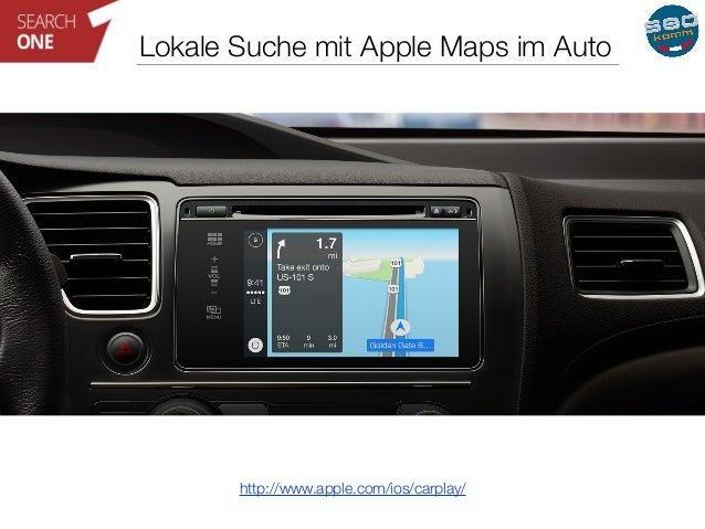 Lokale Suche mit Apple Maps im Auto  http://www.apple.com/ios/carplay/