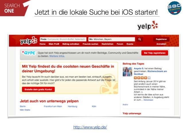 Jetzt in die lokale Suche bei iOS starten!  http://www.yelp.de/