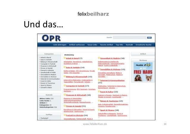 www.FelixBeilharz.de  Und das…  14