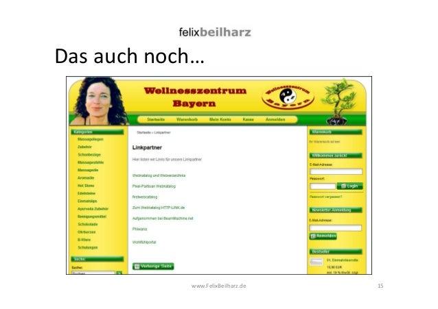 Das auch noch…  www.FelixBeilharz.de  15