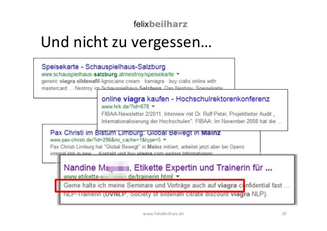 Und nicht zu vergessen…  www.FelixBeilharz.de  19