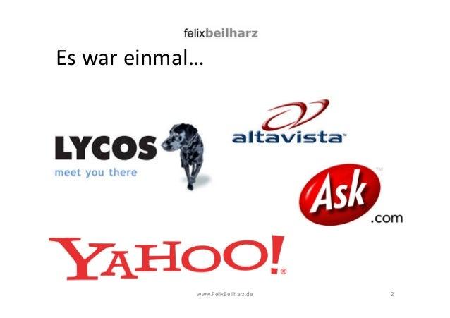 Es war einmal…  www.FelixBeilharz.de  2