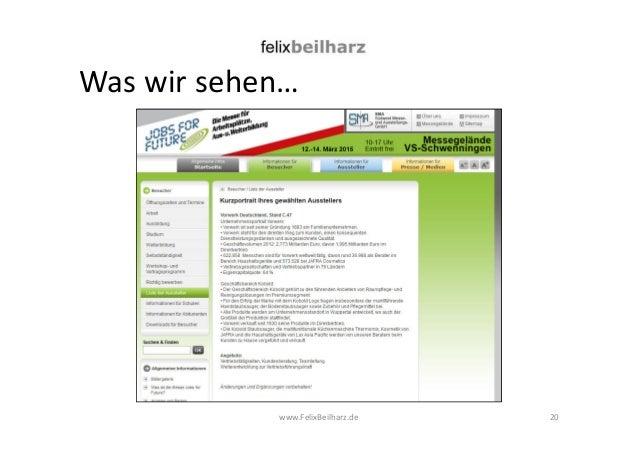 Was wir sehen…  www.FelixBeilharz.de  20