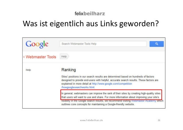 Was ist eigentlich aus Links geworden?  www.FelixBeilharz.de  26