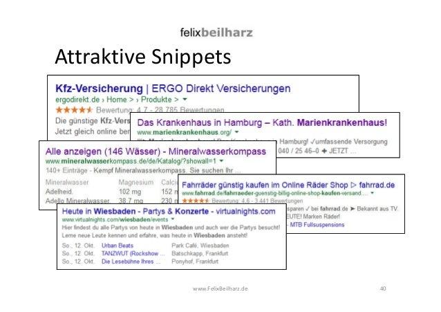 Attraktive Snippets  www.FelixBeilharz.de 40