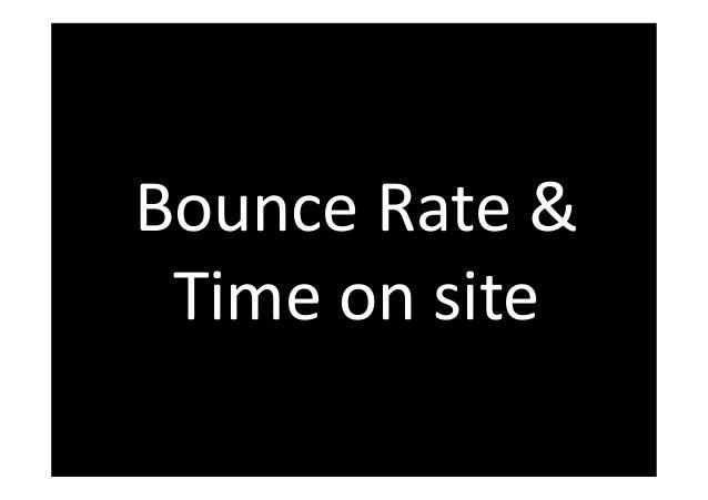 Bounce Rate &  Time on site  www.FelixBeilharz.de 43