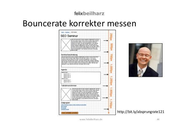 Bouncerate korrekter messen  http://bit.ly/absprungrate121  www.FelixBeilharz.de 44