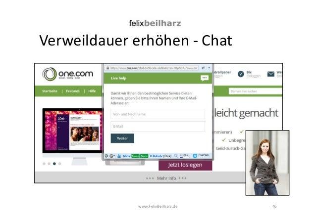 Verweildauer erhöhen - Chat  www.FelixBeilharz.de 46