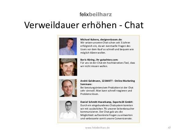 Verweildauer erhöhen - Chat  Michael Kubens, designenlassen.de:  Wir setzen unseren Chat schon seit 3 Jahren  erfolgreich ...