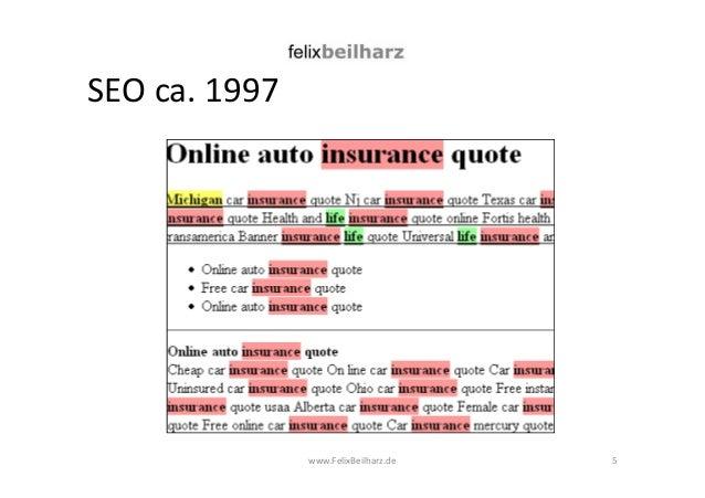 SEO ca. 1997  www.FelixBeilharz.de 5