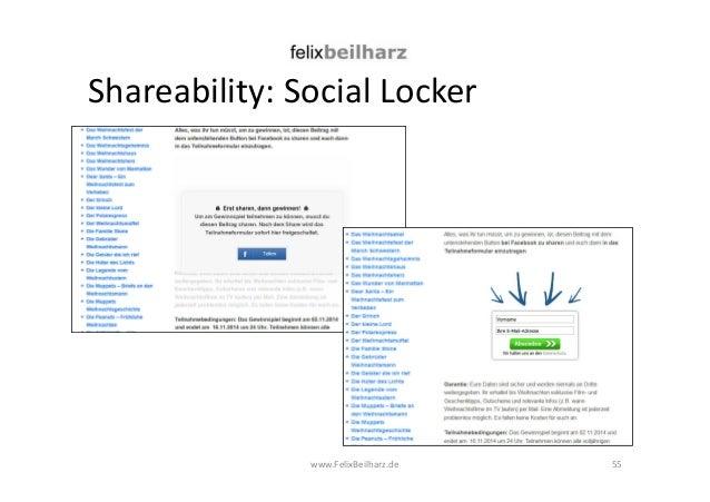 Shareability: Social Locker  www.FelixBeilharz.de 55
