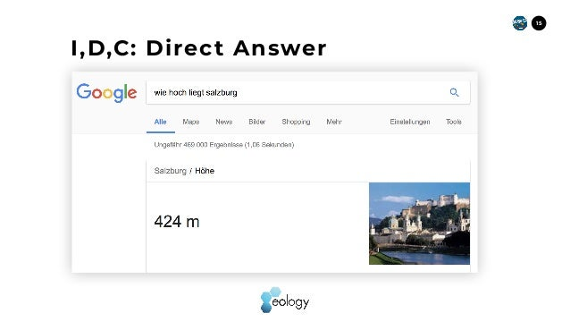 15 I,D,C: Direct Answer