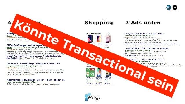 17 4 Ads oben Shopping 3 Ads unten Könnte Transactional sein