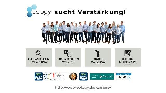 http://www.eology.de/karriere/ sucht Verstärkung!