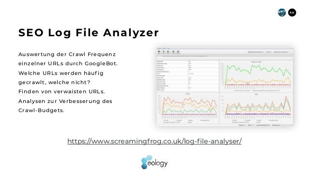 Auswertung der Crawl Frequenz einzelner URLs durch GoogleBot. Welche URLs werden häuf ig gecrawlt, welche nicht? Finden vo...