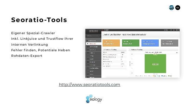 Eigener Spezial-Crawler Inkl. Linkjuice und Trustflow Ihrer internen Verlinkung Fehler f inden, Potentiale Heben Rohdaten-...