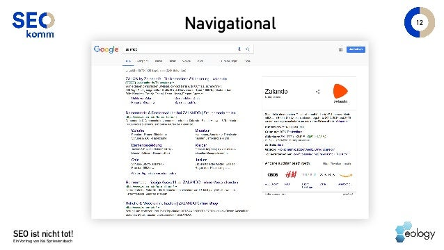 SEO ist nicht tot! Ein Vortrag von Kai Spriestersbach 12 Navigational