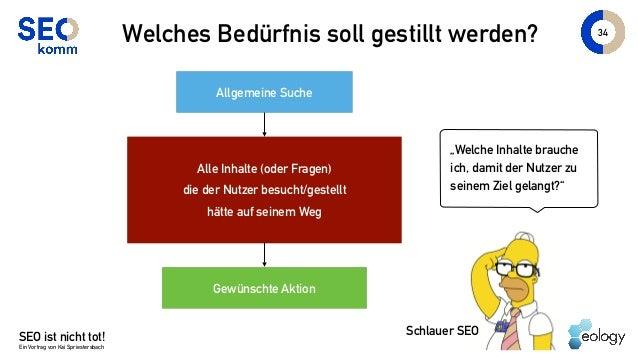 """SEO ist nicht tot! Ein Vortrag von Kai Spriestersbach """"Welche Inhalte brauche ich, damit der Nutzer zu seinem Ziel gelangt..."""