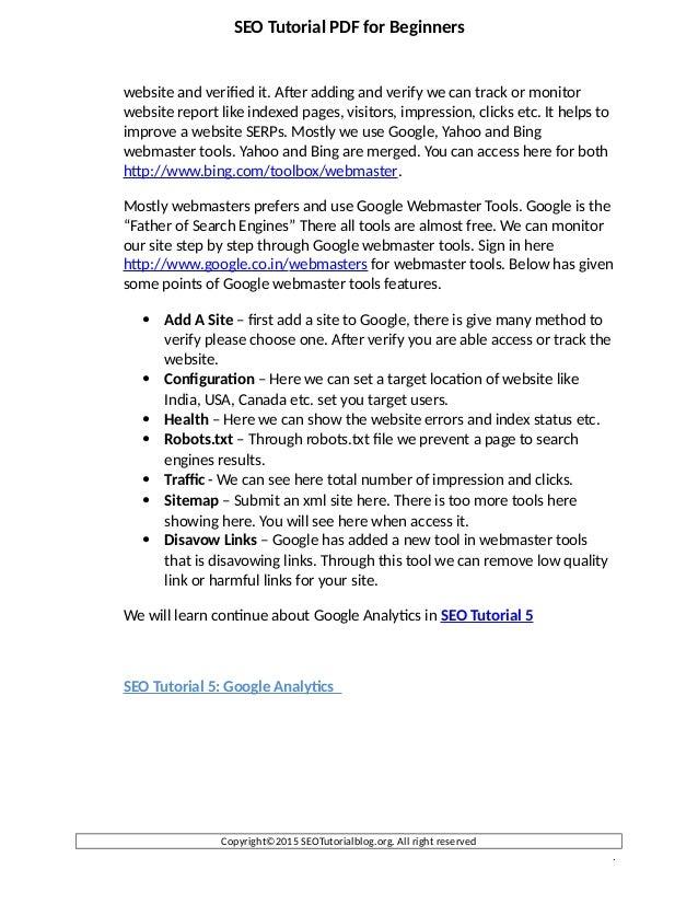 Learn seo basics pdf
