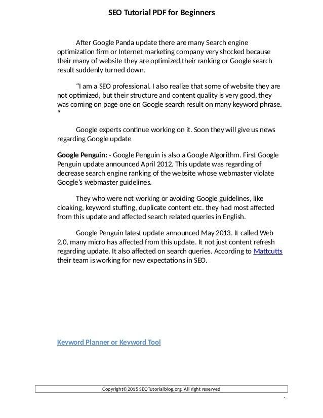 Download free SEO Tutorial PDF slideshare - 웹