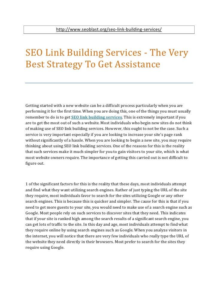 http://www.seoblast.org/seo-link-building-services/SEO Link Building Services - The VeryBest Strategy To Get AssistanceGet...