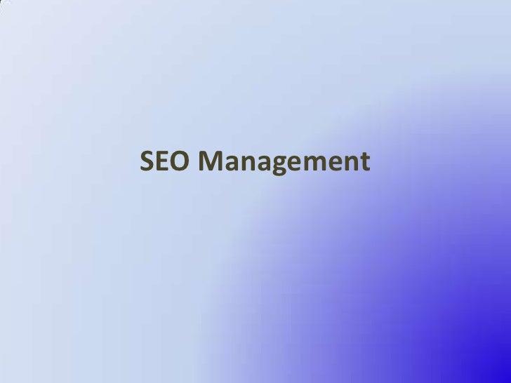SEO Management<br />
