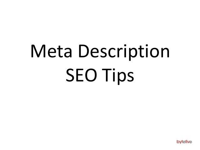 Meta Description SEO Tips