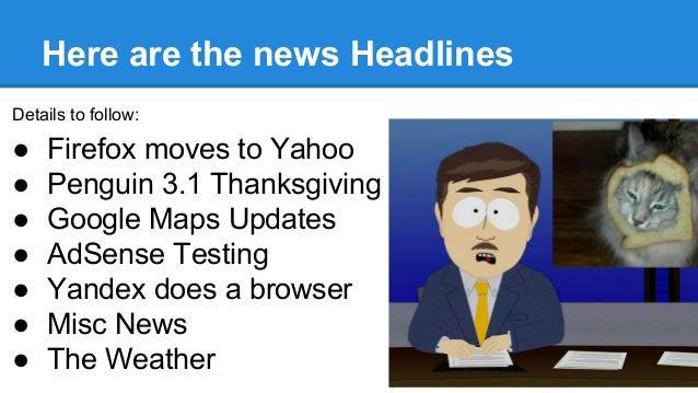 Seo News Roundup Nov 2014 slideshare - 웹