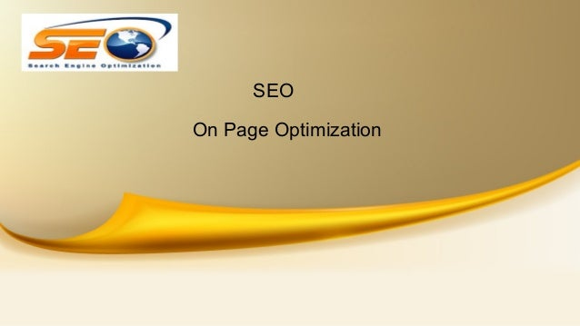 SEO On Page Optimization