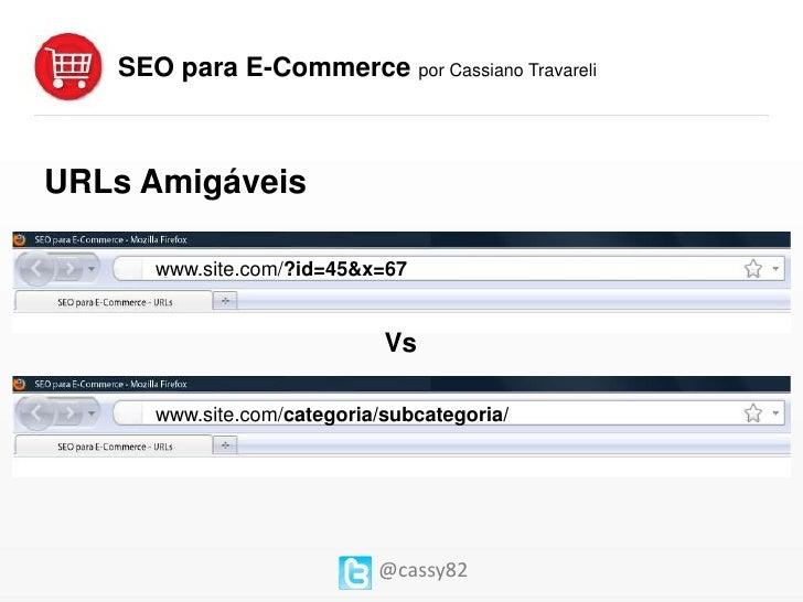 SEO para E-Commerce - Cassiano Travareli Slide 2