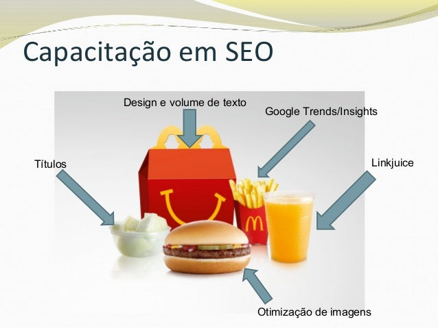 """Capacitação em SEO """"SEO is about balance"""" We don't want to change 'the voice' of the writing for the sake of placement. I..."""