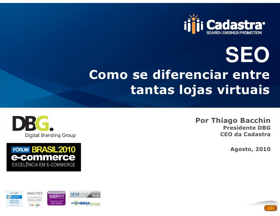 SEO para lojas virtuais - Curso de E-commerce