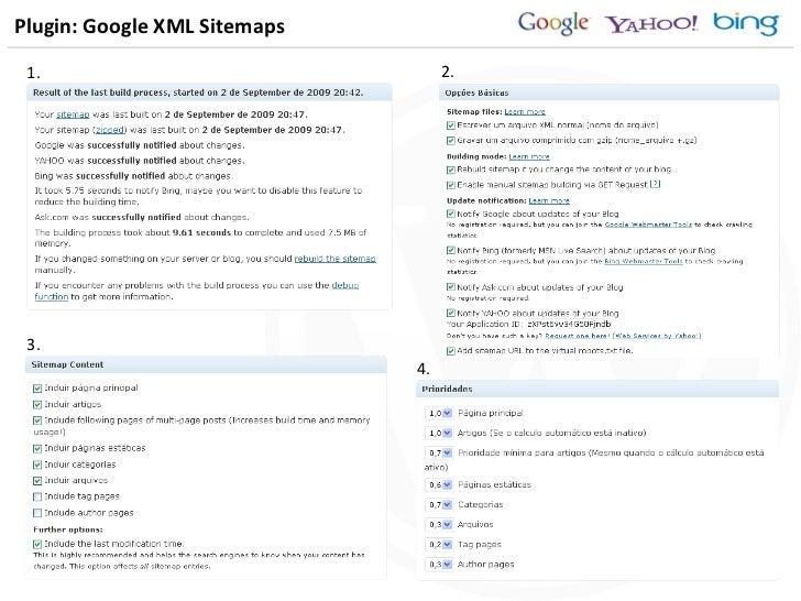 Plugin: Google XML Sitemaps 1. 3. 2. 4.
