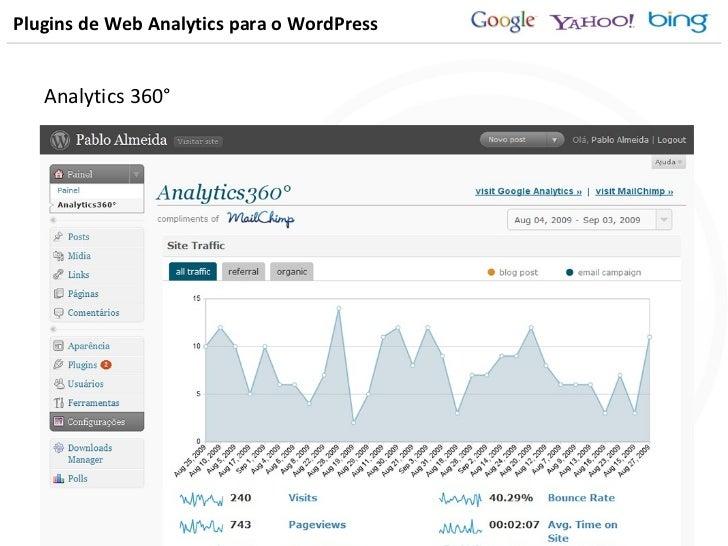 Plugins de Web Analytics para o WordPress <ul><li>Analytics 360° </li></ul>