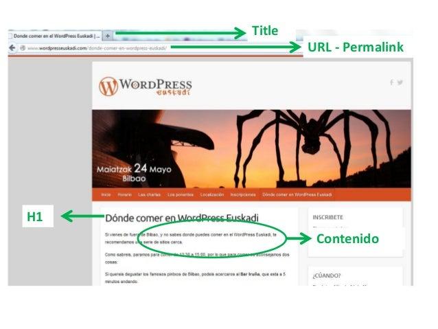 Title URL - Permalink H1 Contenido